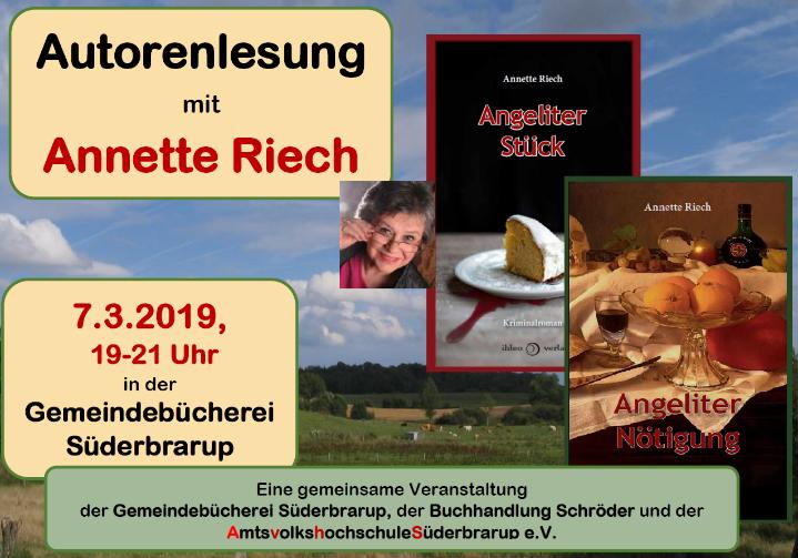 Autorenlesung mit Annette Riech